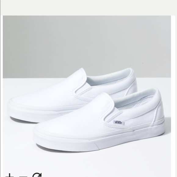 Vans Shoes - White Slip On Vans